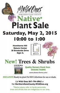 Native Plant Sale Northern Kane County WIld Ones 2015